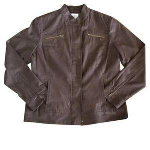Chico's Platinum Size 3 Womens Jacket zipper side